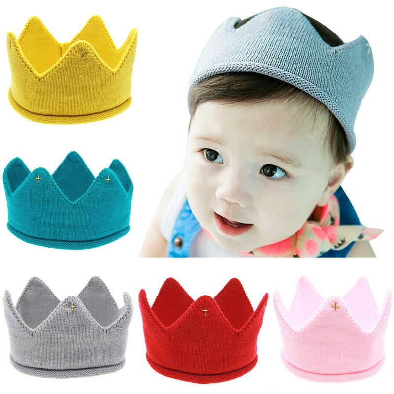 Baby crown Headband Girls Crochet hair accessories Children hair bands