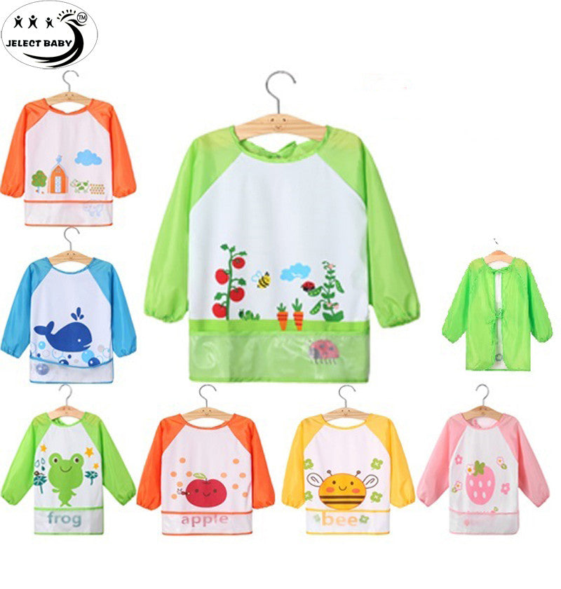 Cute Baby Bibs Smock bibs Infant Burp Cloths Lunch Bibs Toddler