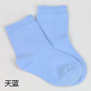 6 pairs / 1 lot spring&autumn candy color cotton children socks boys