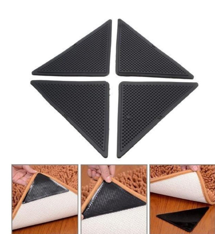 4pcs Reusable Rug Grippers