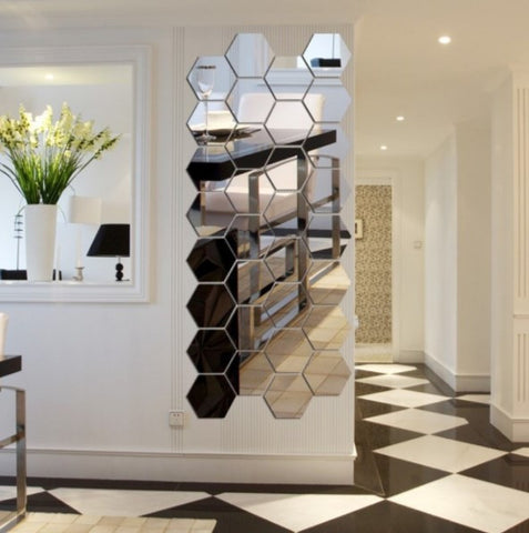 Build able 7Pc Hexagon Mirror