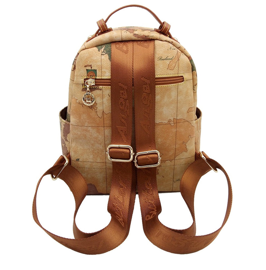 Retro World Map Travel Backpack