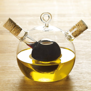 Handblown Oil and Vinegar Bottle