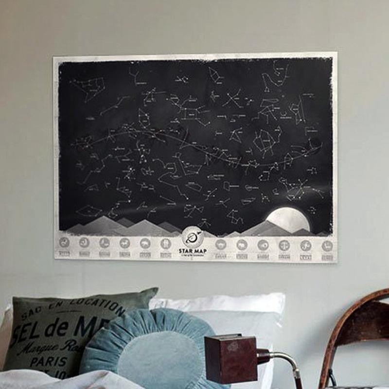 Glowing Star Map