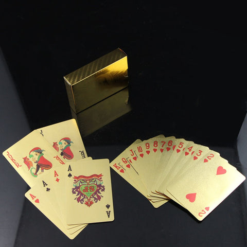 100% Waterproof 24k Gold Foil Playing Cards