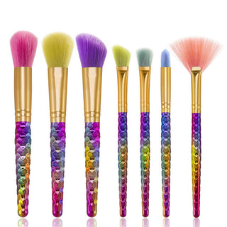 Rainbow Mermaid Makeup Brushes
