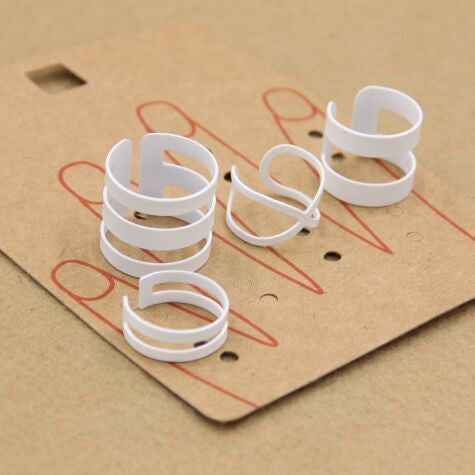 'White' Ring Set - One Size Fits All