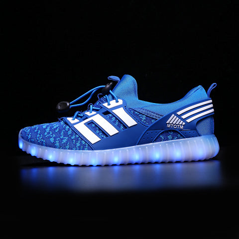 new concept 73a32 83a7c Women Light Up Shoes Low Top Blue