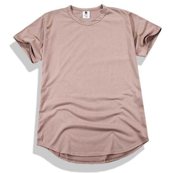 Brown curved t-shirt