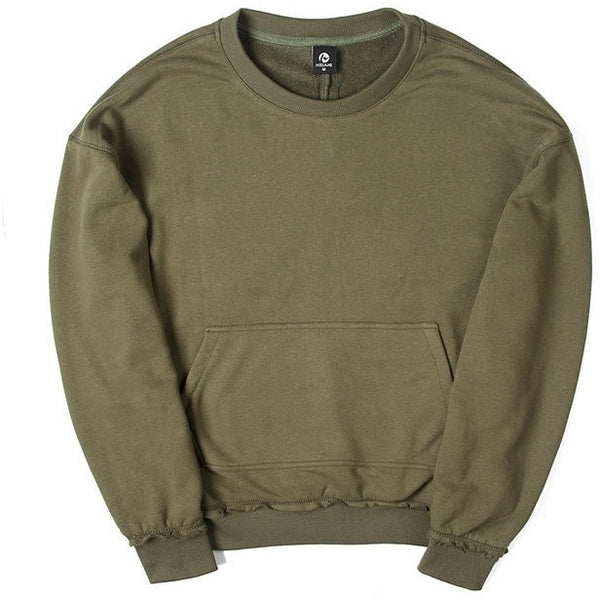 Army green fall sweater