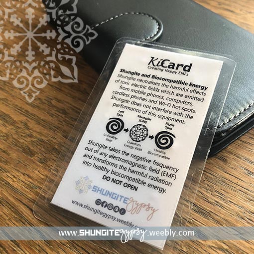 Shungite + Colloidal Silver filled Mobile Phone EMF Protection Card ~  Neutralize Harmful EMFs ~ Electronic Device Protection ~ [KiCard] ~ 01  CAPRICORN