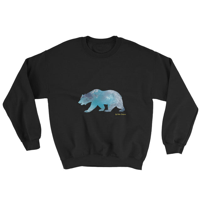 Polar Couture Sweatshirt -Black -  Arctic King - Save Polar Bears