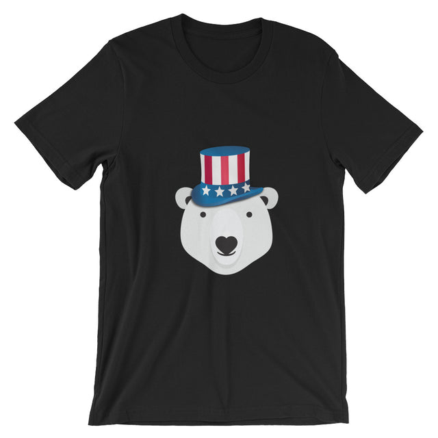 Polar Couture T-Shirt- USA - Independence Day - 4th of July - Save Polar Bears