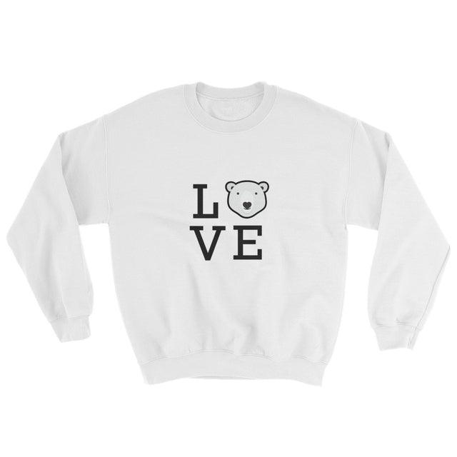 Polar Couture Sweat Shirt Square Love - I Love Polar Bears
