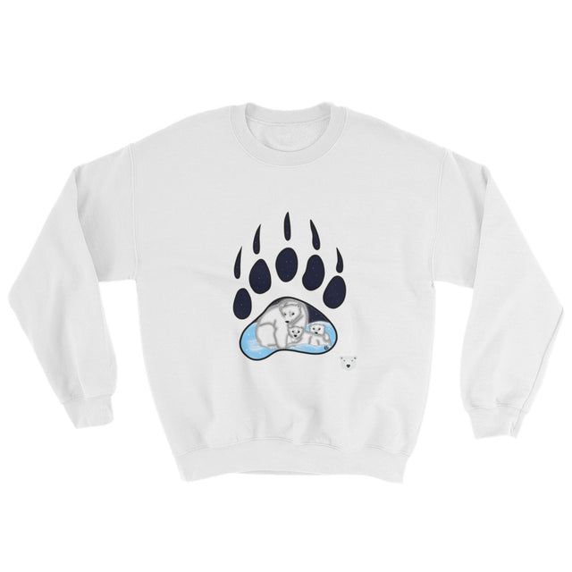 Polar Couture Sweatshirt - Polar Family Paw Print - Save Polar Bears