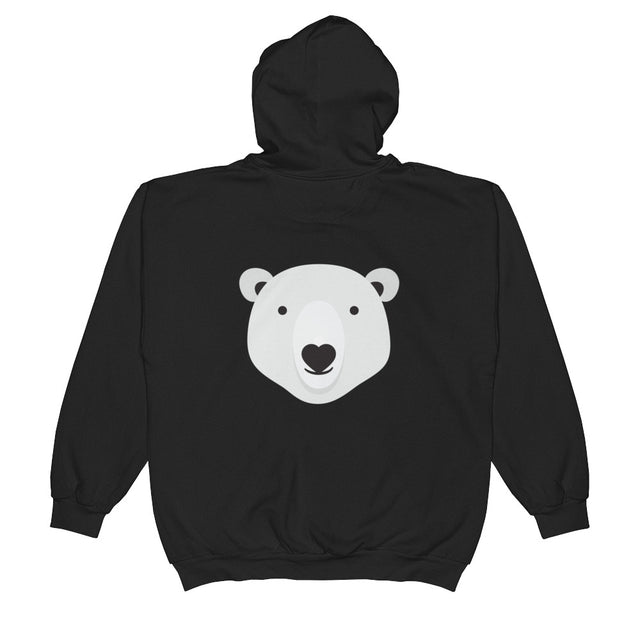 Polar Couture Zip Hooded Sweatshirt - Smile - Save Polar Bears