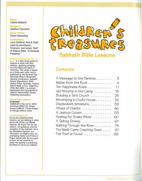 Children's Treasures, Vol. 1, #3