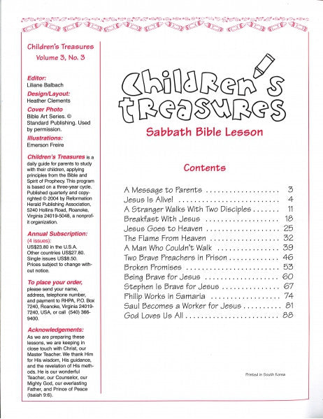 Children's Treasures, Vol. 3, #3
