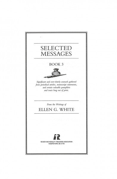 Selected Messages Book 3, CHL