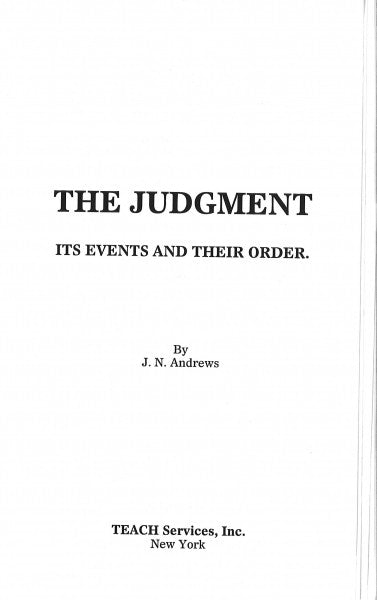 The Judgment, It's Events and Their Order