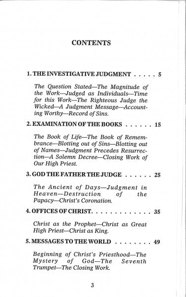 The Judgment: Its Events and Their Order