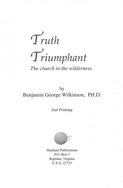 Truth Triumphant: Church in the Wilderness