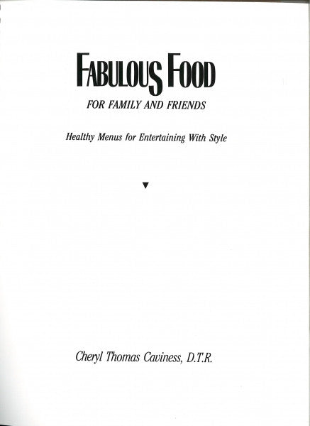 Fabulous Food, Cookbook