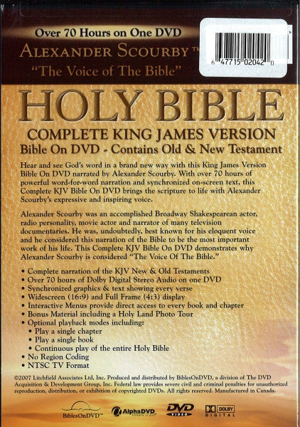 Bible: KJV Audio Bible by Alexander Scourby