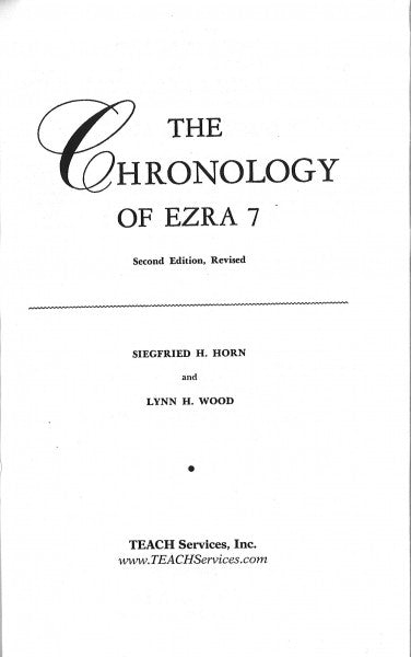 The Chronology of Ezra 7
