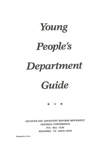 Young People's Department Guide