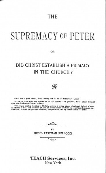 The Supremacy of Peter