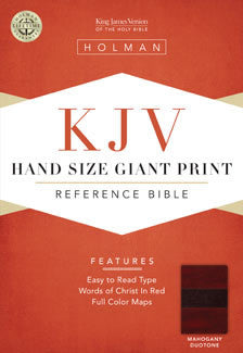 Bible: KJV, Holman, Hand Size, Giant Print, Leather Imitation, Brown-Terracotta