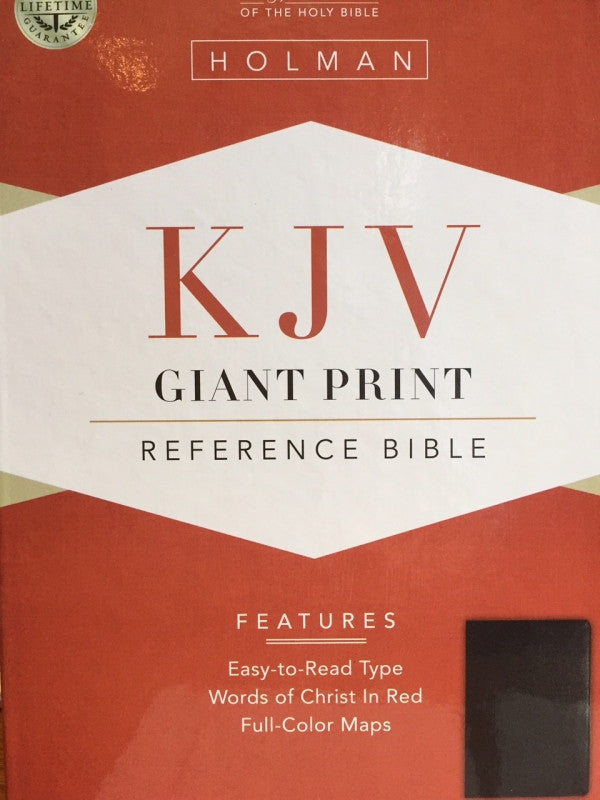 Bible: KJV, Holman, Giant Print, Bonded Leather, Black