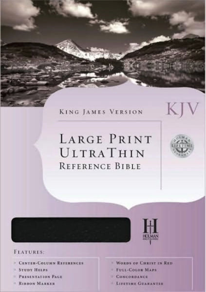 Bible: KJV, Holman, Large Print, Ultra Thin, Bonded Leather, Burgundy, Indexed