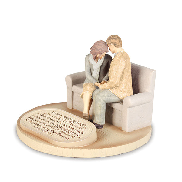 Devoted Praying Couple, Figurine