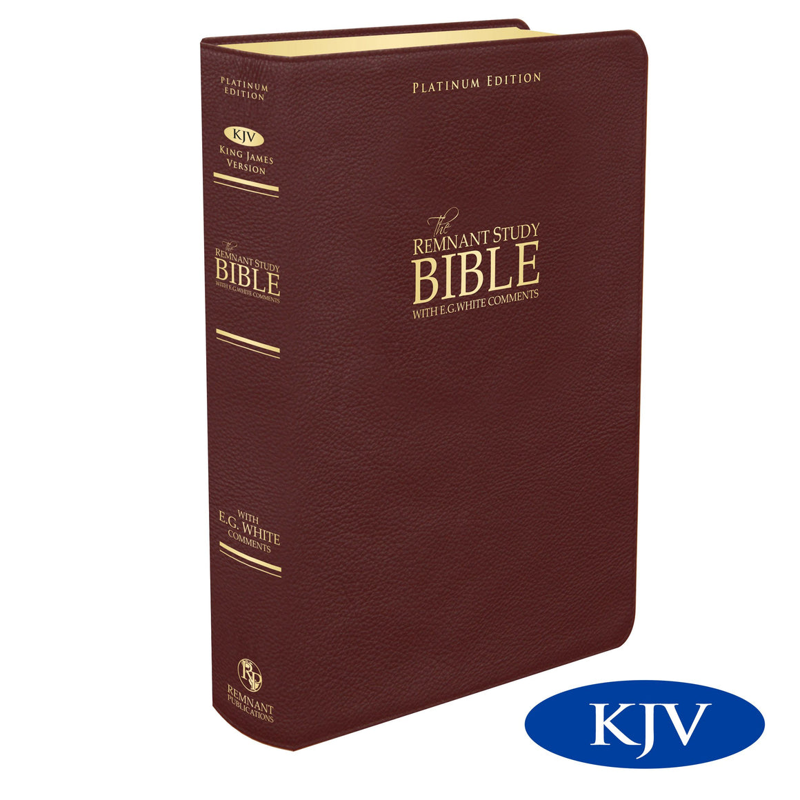 Platinum Remnant Study Bible KJV (Top-grain Leather Maroon)