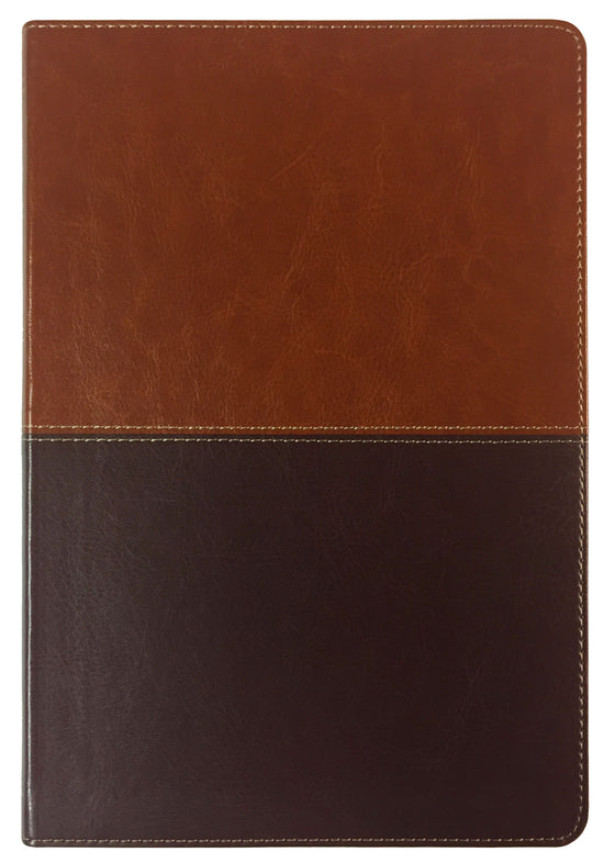 Bible: KJV, Large Print Ultrathin Reference Bible, Brown/Tan