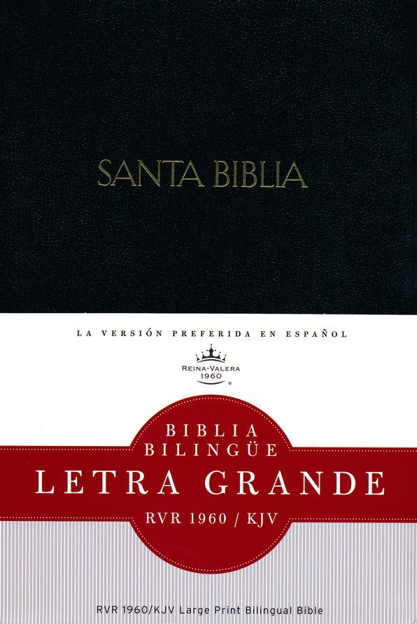 Bilingual Bible: RVR1960/KJV, Letra Grande, Hard Cover, Black