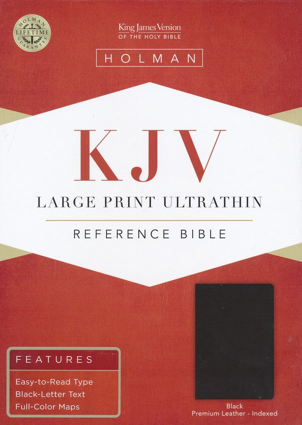 Bible: KJV, Large Print Ultrathin Reference Bible, Black, Indexed