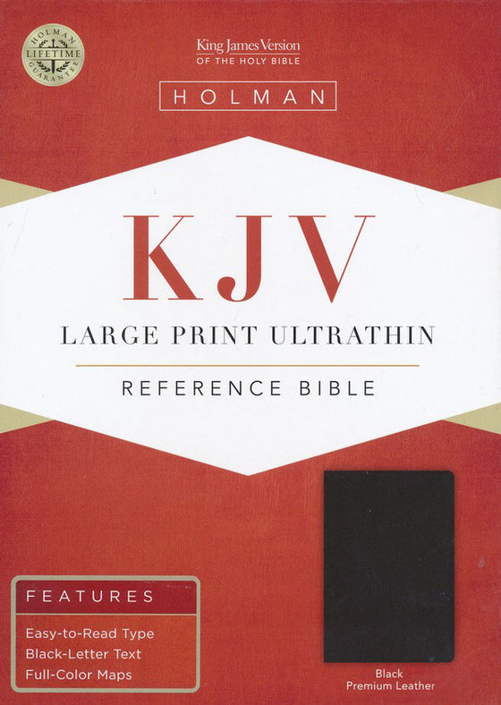 Bible: KJV, Large Print Ultrathin Reference Bible, Black