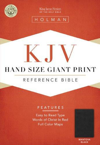 Bible: KJV, Holman, Hand Size, Giant Print, Leather Imitation, Black, Indexed