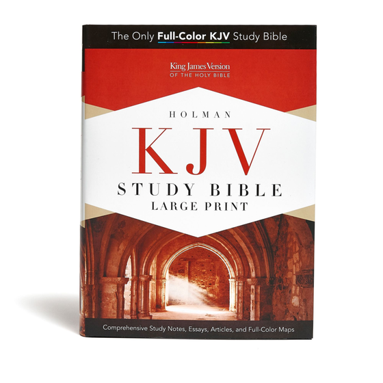 KJV Study Bible Large Print HC - with Bible plan and Concordance!