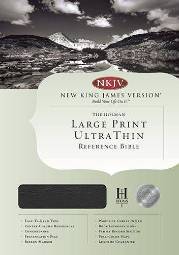 Bible: KJV, Holman, Large Print, Ultra Thin, Bonded Leather, Black, Indexed