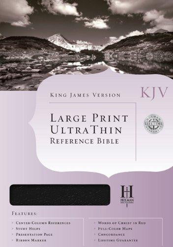 Bible: KJV, Holman, Large Print, Ultra Thin, Genuine Leather, Black, Indexed