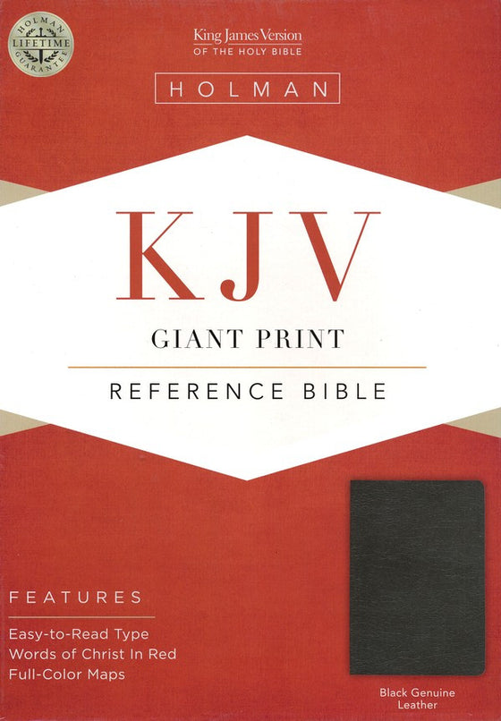 Bible: KJV, Holman, Giant Print, Reference, Genuine Leather, Black