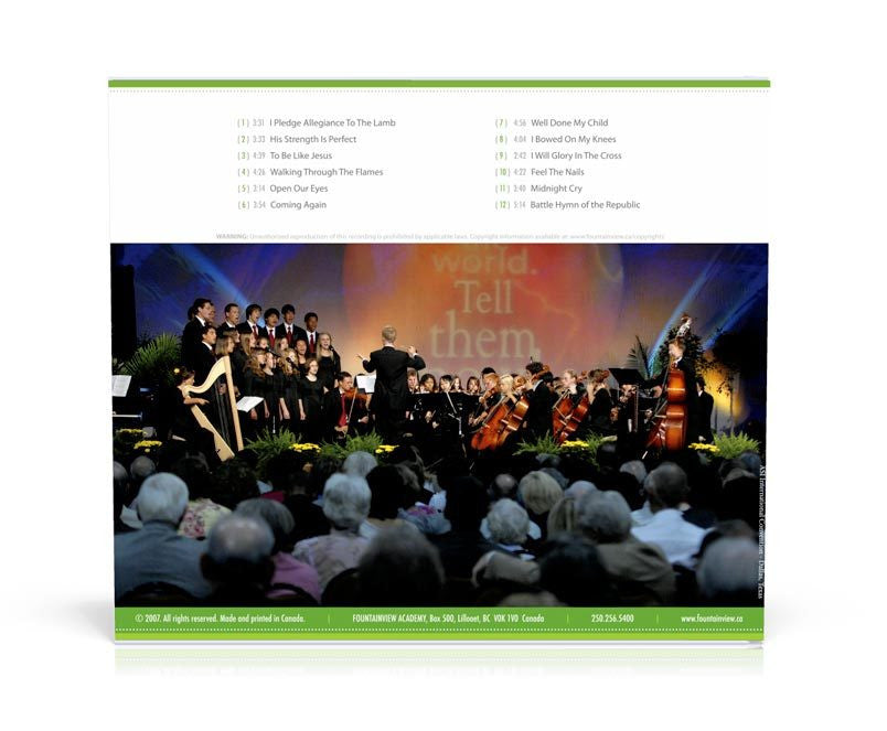Coming Again (Strings and Choir), CD