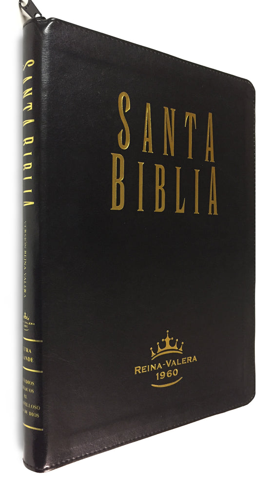 Biblia: RV1979, Letra Grande, Estudios Bíblicos, Leather, Zippered