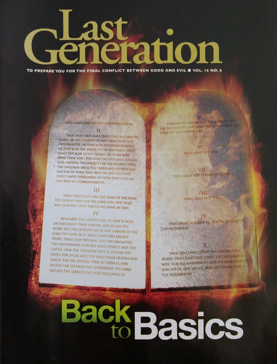 Last Generation: Back to Basics Vol. 16 No. 6