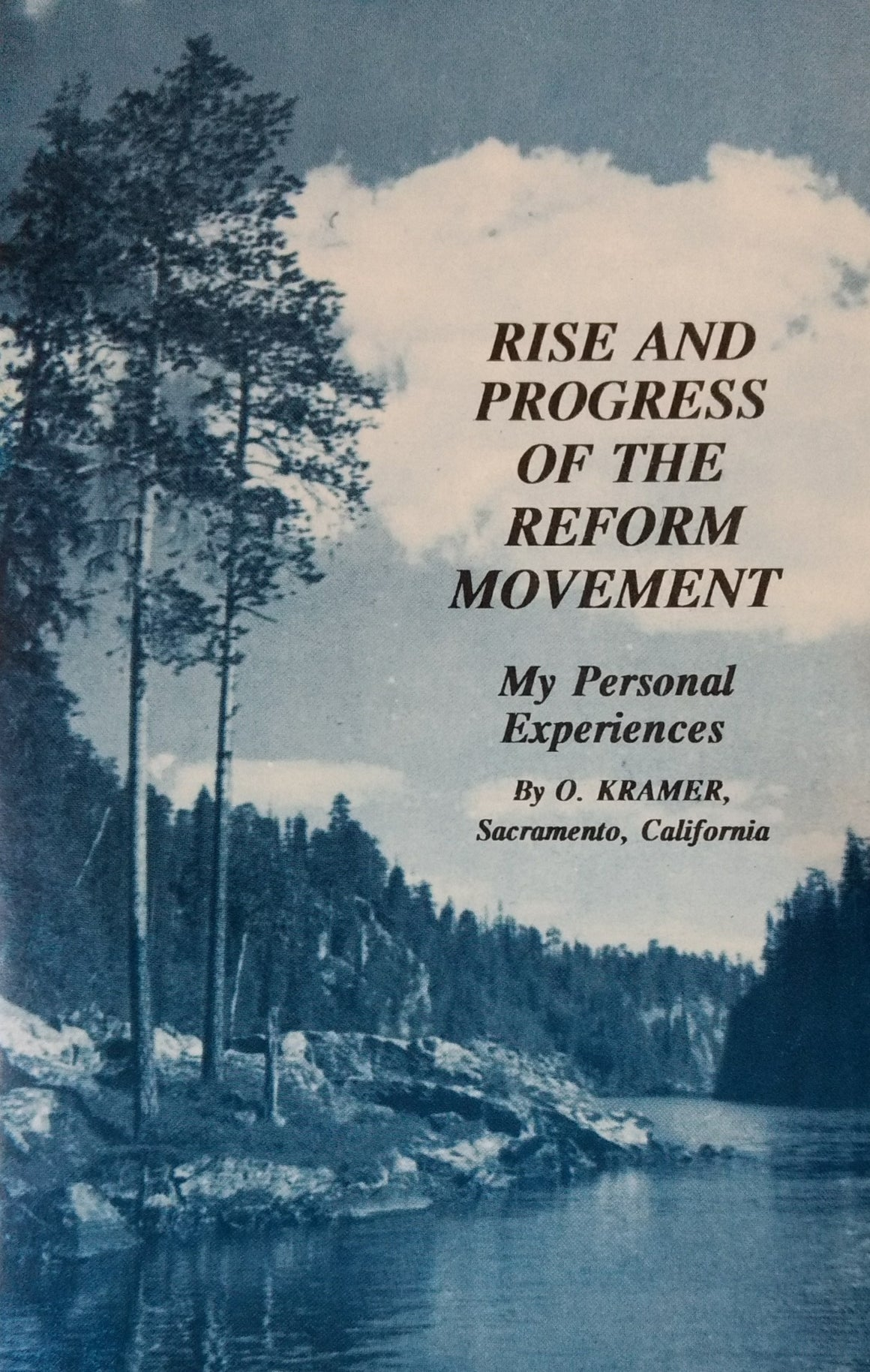 Rise and Progress of the Reform Movement