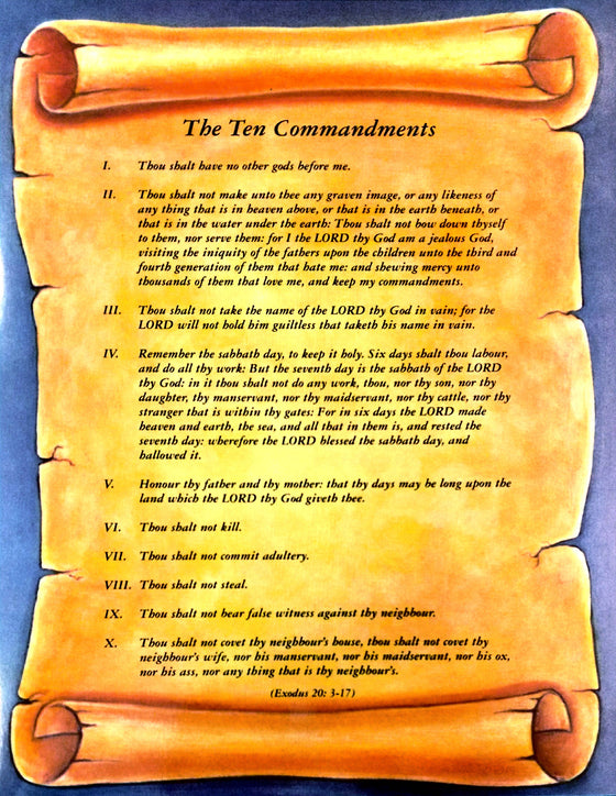 The Ten Commandments, Poster